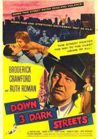 Down Three Dark Streets (1954) plakat