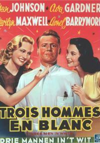 Trzej mężczyźni w bieli (1944) plakat