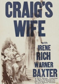 Żona Craiga (1928) plakat