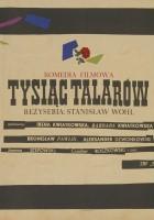 plakat - Tysiąc talarów (1959)