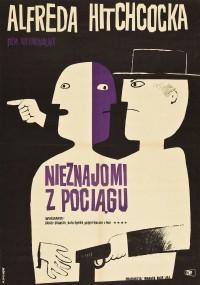 Nieznajomi z pociągu (1951) plakat