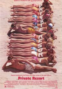 Wakacje w kurorcie (1985) plakat
