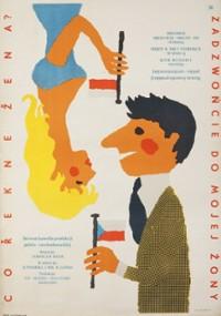 Zadzwońcie do mojej żony (1958) plakat