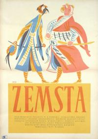 Zemsta (1956) plakat
