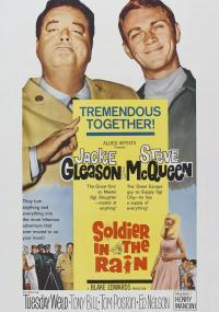 Żołnierz w deszczu (1963) plakat