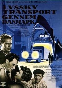 Lyssky transport gennem Danmark (1958) plakat