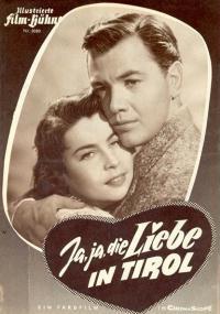 Ja, ja die Liebe in Tirol (1955) plakat