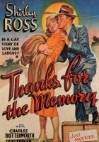 Thanks for the Memory (1938) plakat