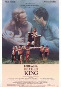 Pożegnanie z królem (1989) plakat