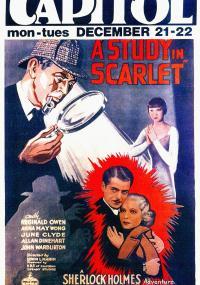 A Study in Scarlet (1933) plakat