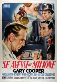 Gdybym miał milion (1932) plakat