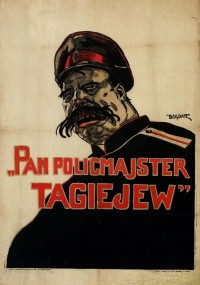 Policmajster Tagiejew (1929) plakat