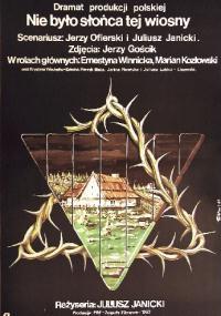Nie było słońca tej wiosny (1983) plakat