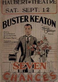 Szczęśliwa siódemka (1925) plakat