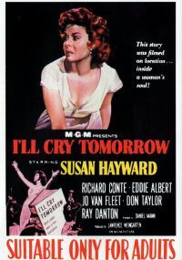 Jutro będę płakać (1955) plakat