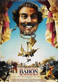 Przygody barona Munchausena (1988) plakat
