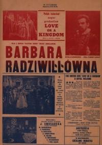 Barbara Radziwiłłówna (1936) plakat