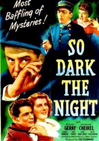So Dark the Night (1946) plakat