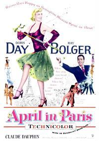 Kwiecień w Paryżu (1952) plakat
