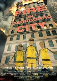 Pożar w tekturowym mieście