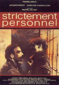 Strictement personnel (1985) plakat