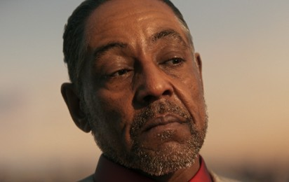 "Kadr z video Giancarlo Esposito o roli w grze ""Far Cry 6"""