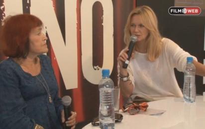 Kadr z video Maria Kornatowska o filmach Rosselliniego
